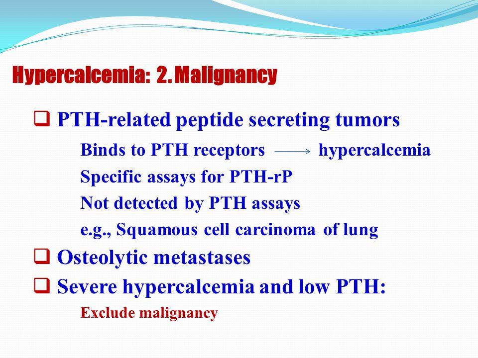 Hypercalcemia: 2. Malignancy