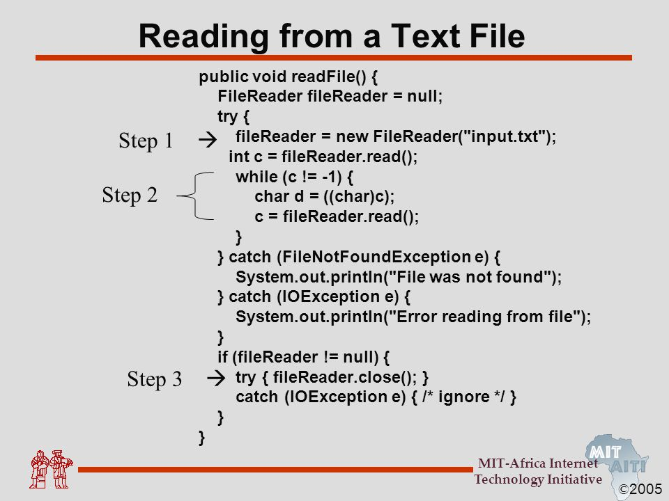 Reading from a Text File