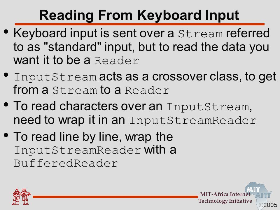 Reading From Keyboard Input