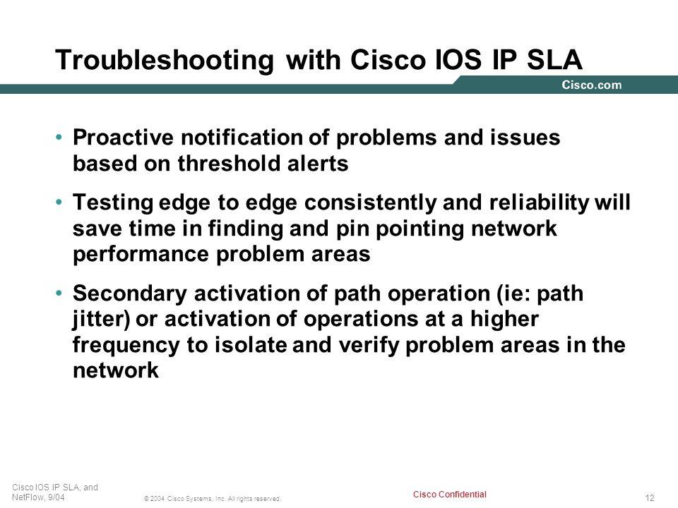 Troubleshooting with Cisco IOS IP SLA