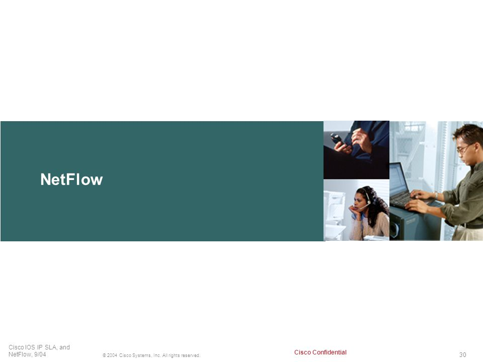 NetFlow Virtual private networks are a growing IP application.
