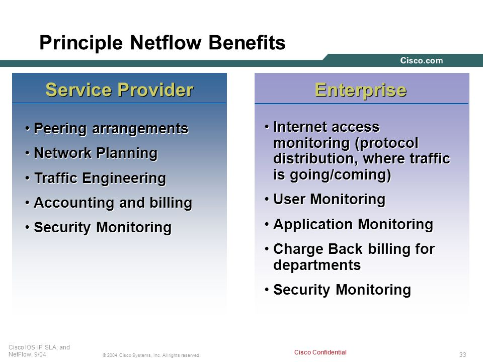 Principle Netflow Benefits