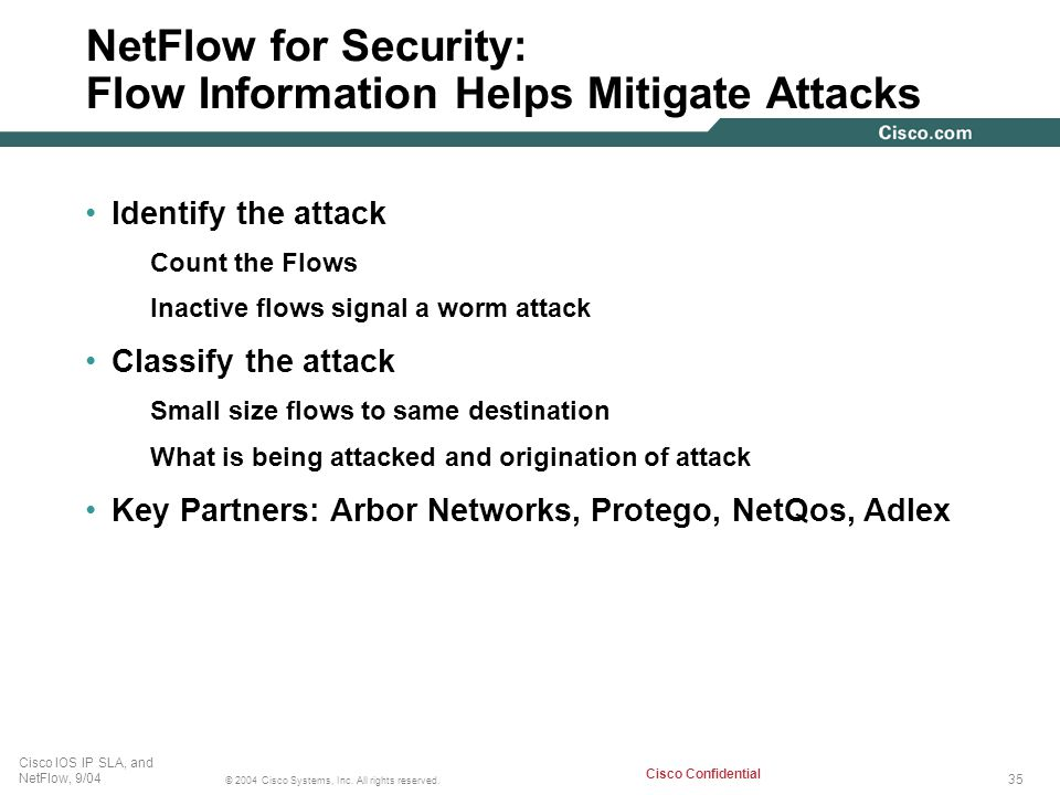 NetFlow for Security: Flow Information Helps Mitigate Attacks