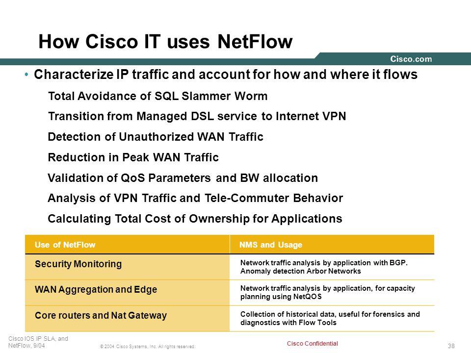 How Cisco IT uses NetFlow