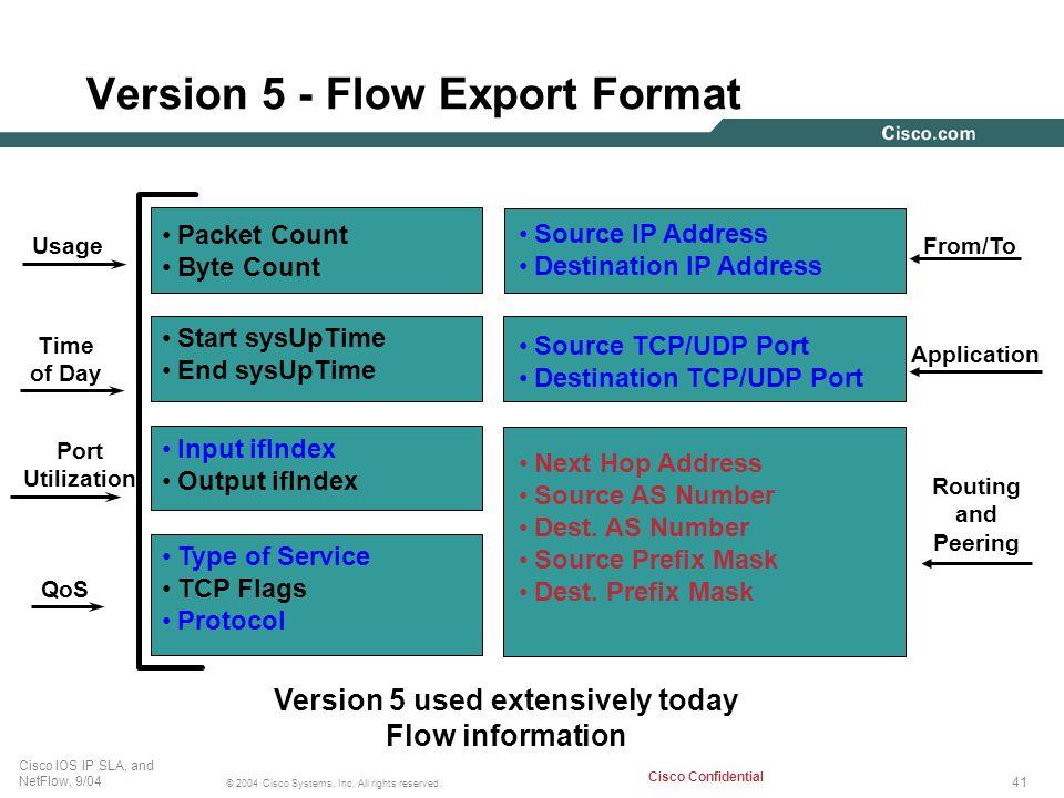 Version 5 - Flow Export Format