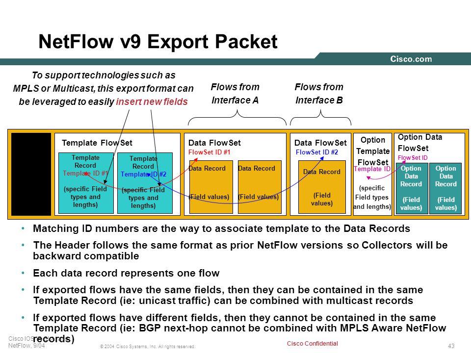 NetFlow v9 Export Packet