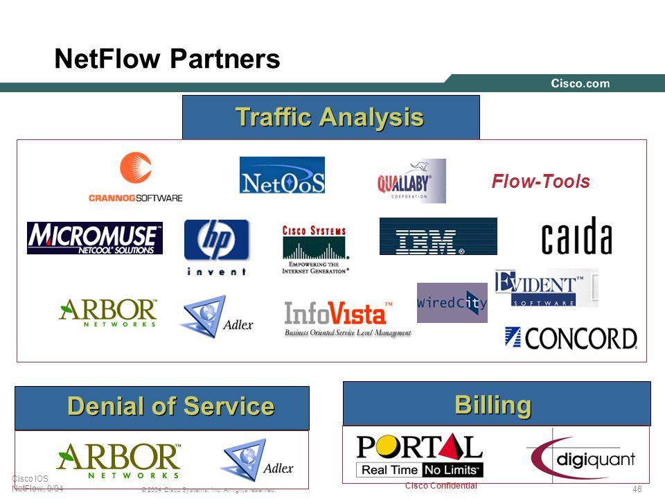 NetFlow Partners Traffic Analysis Flow-Tools Denial of Service Billing