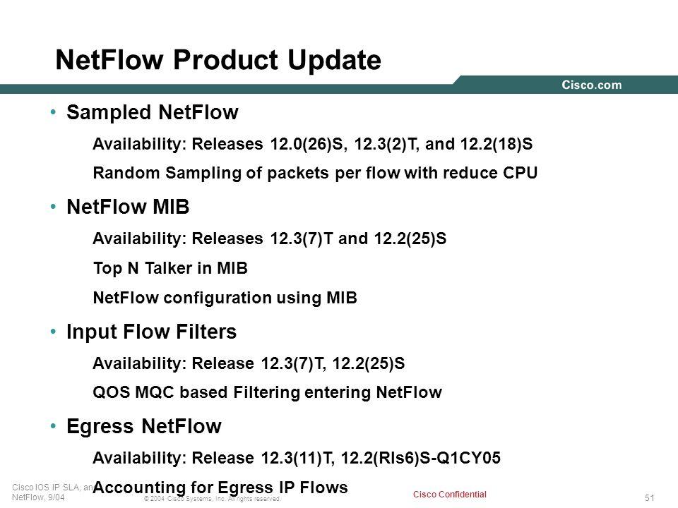 NetFlow Product Update
