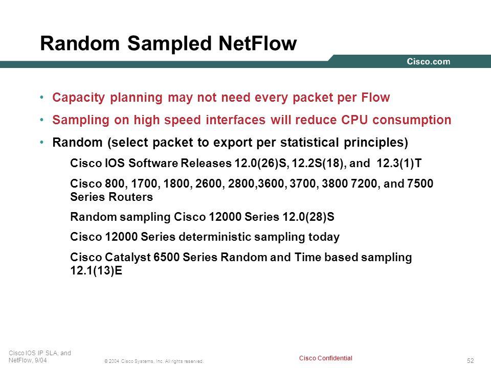 Random Sampled NetFlow