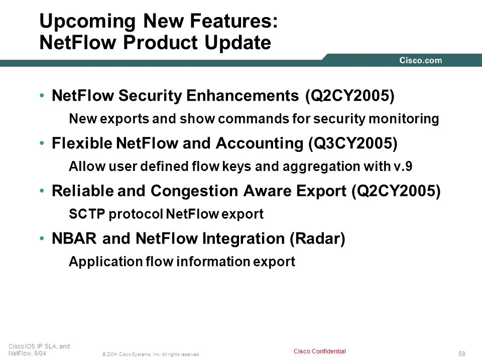 Upcoming New Features: NetFlow Product Update