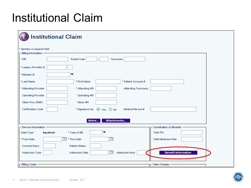Institutional Claim