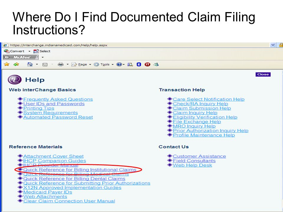 Where Do I Find Documented Claim Filing Instructions