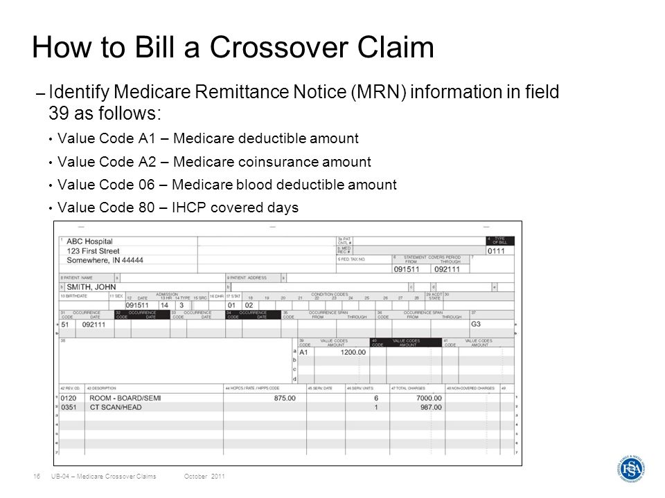 How to Bill a Crossover Claim