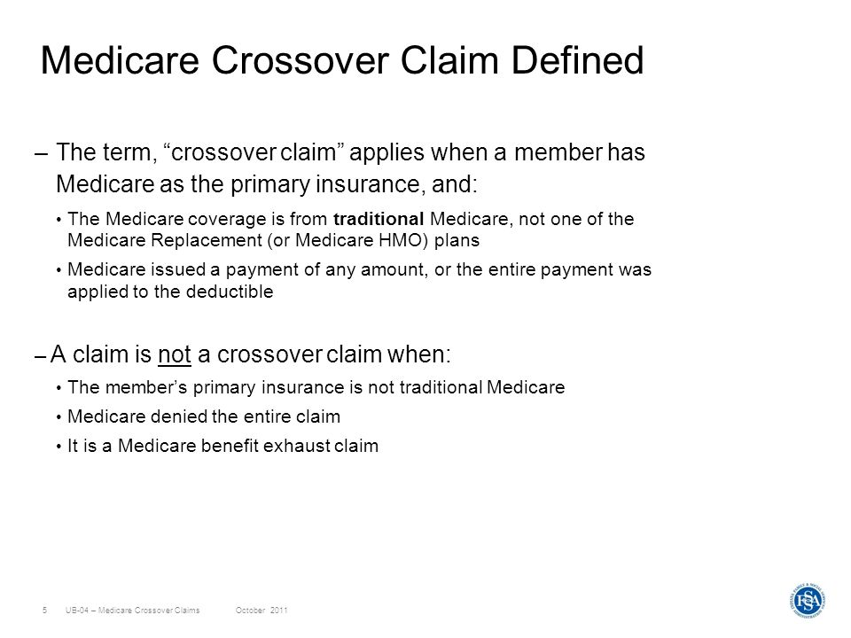 Medicare Crossover Claim Defined