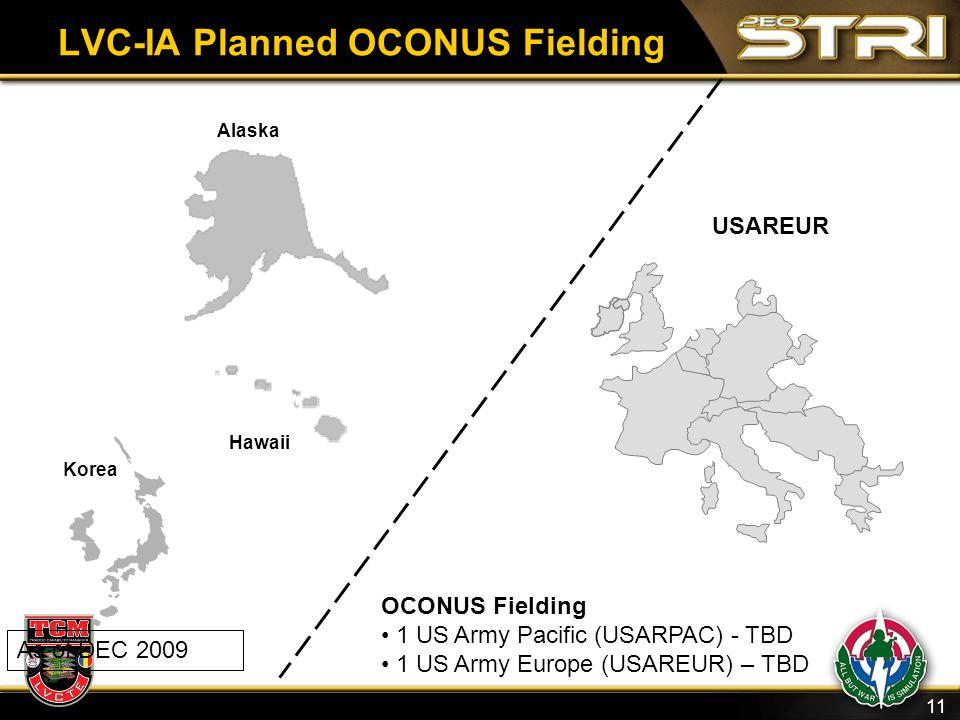 LVC-IA Planned OCONUS Fielding