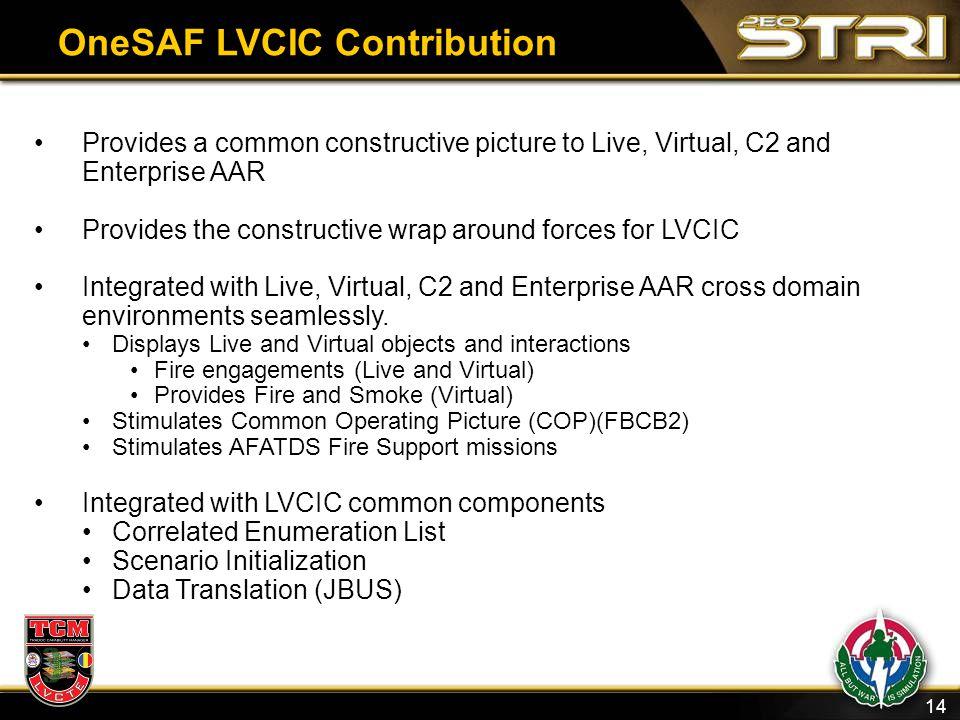 OneSAF LVCIC Contribution