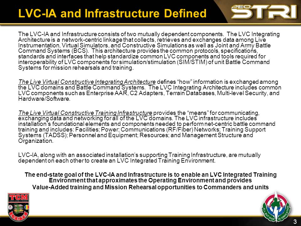 LVC-IA and Infrastructure Defined