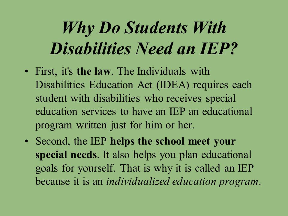 Why Do Students With Disabilities Need an IEP