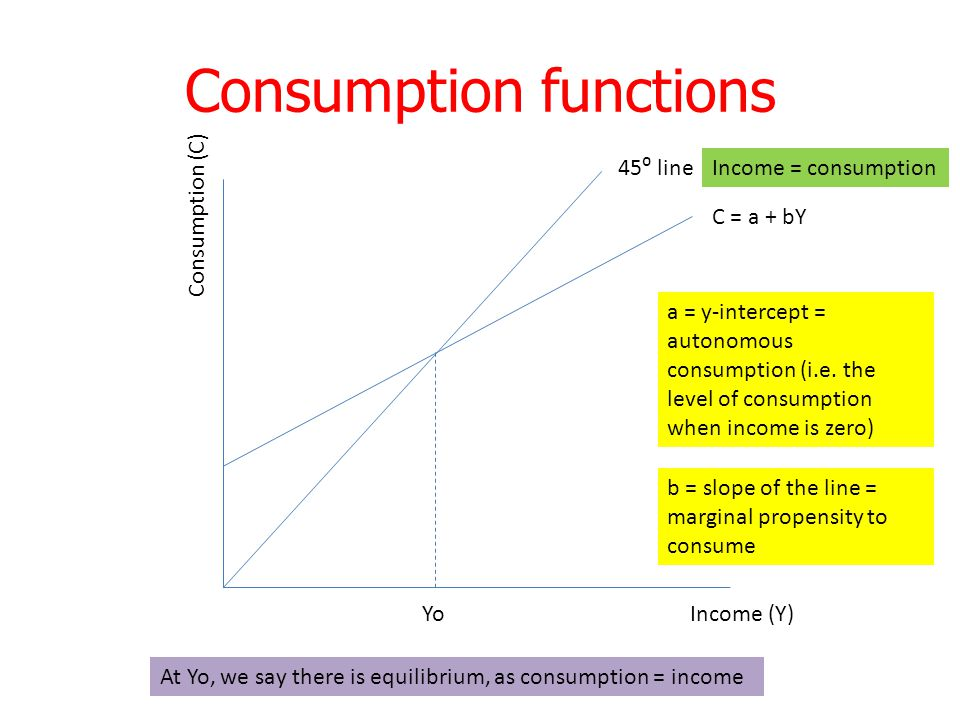 Consumption functions