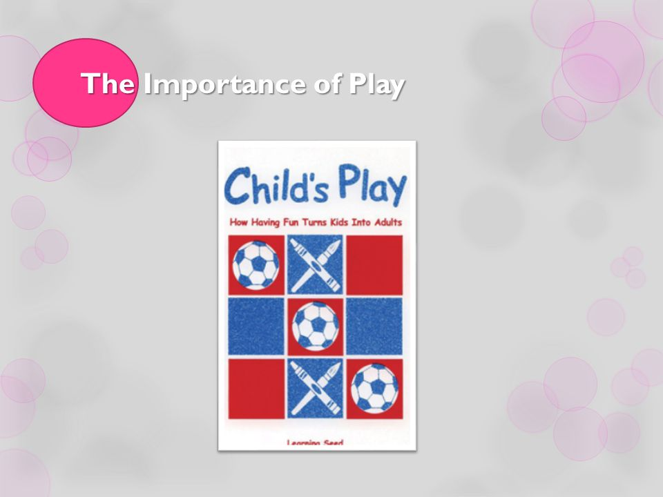 The Importance of Play Module 3, Workshop 1, Activity 6 Goal