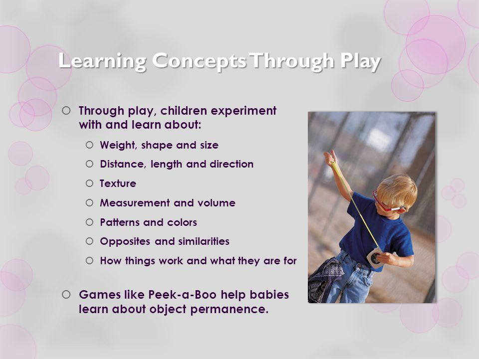 Learning Concepts Through Play