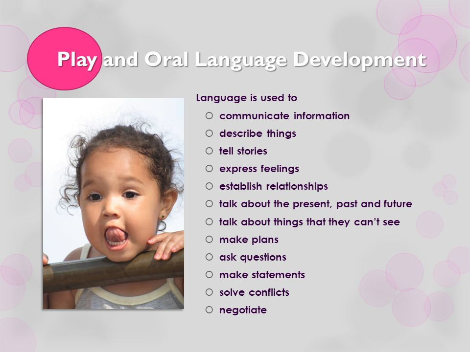 Play and Oral Language Development