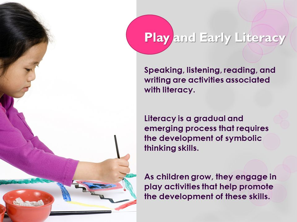 Play and Early Literacy