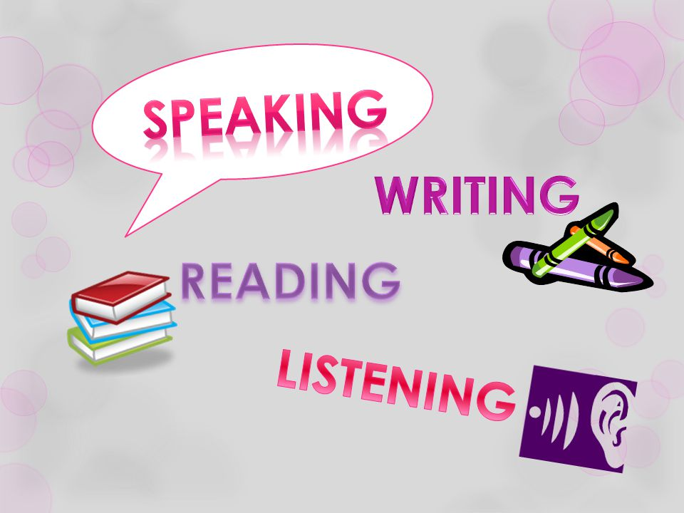 Speaking WRITING READING LISTENING