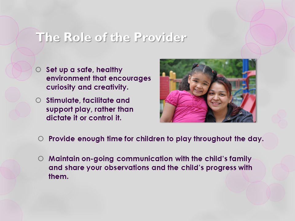 The Role of the Provider