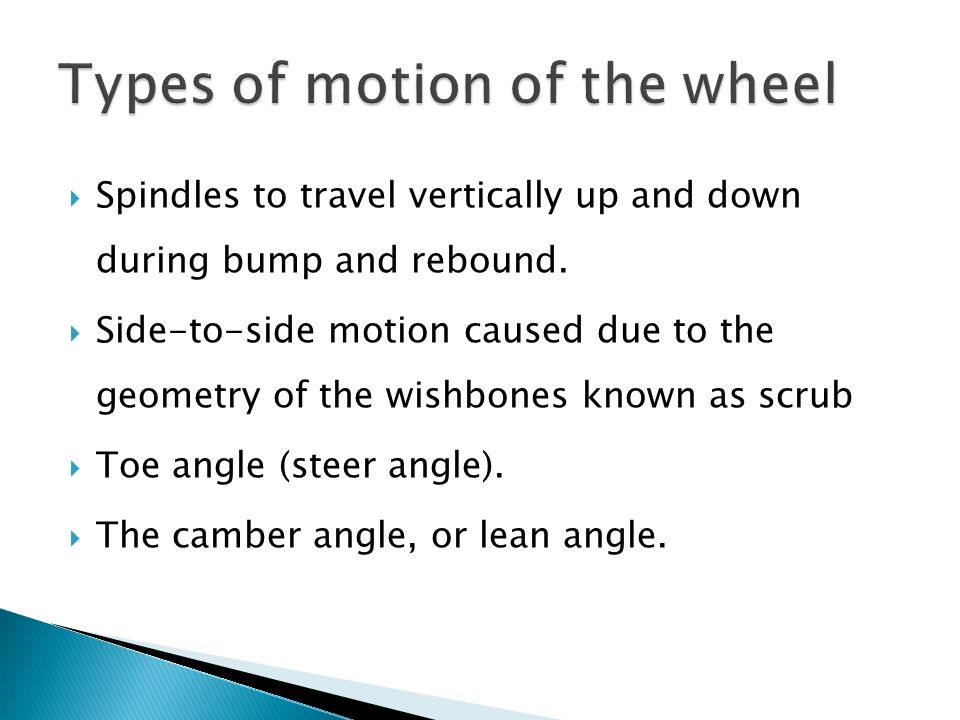 Types of motion of the wheel