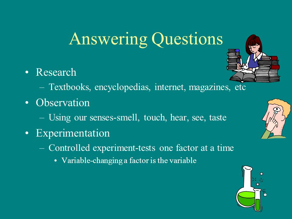 Answering Questions Research Observation Experimentation