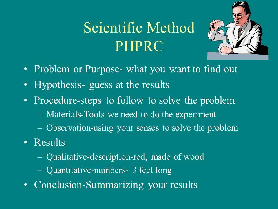 Scientific Method PHPRC