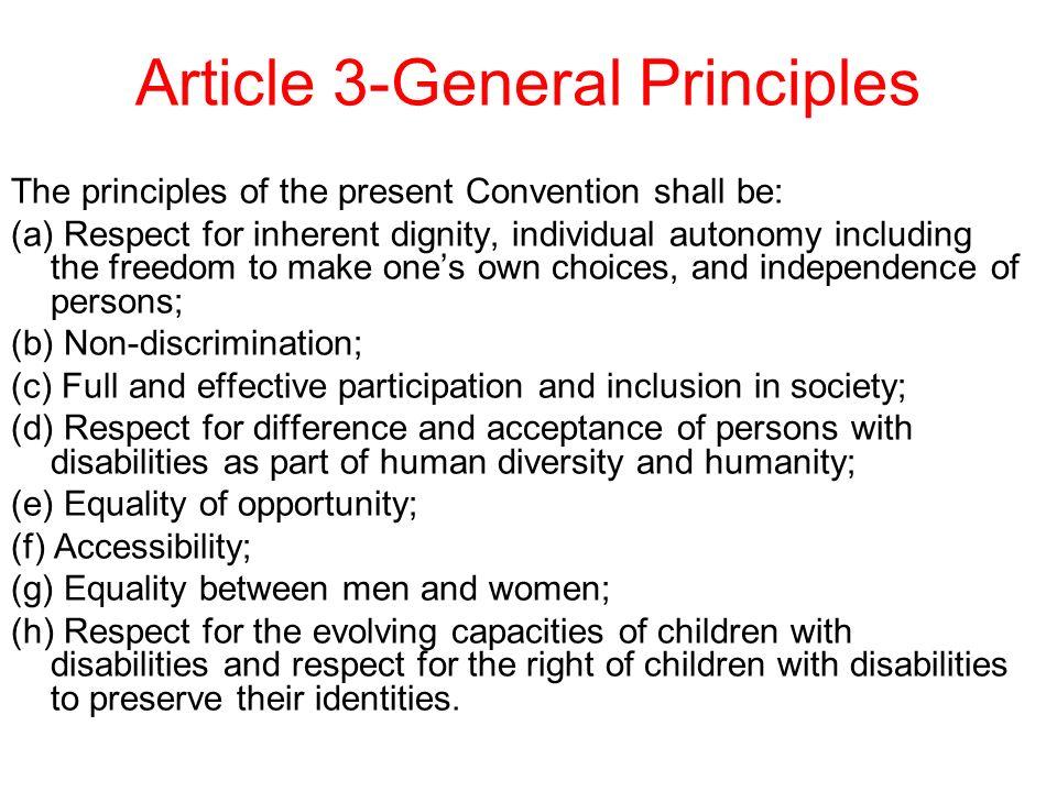 Article 3-General Principles