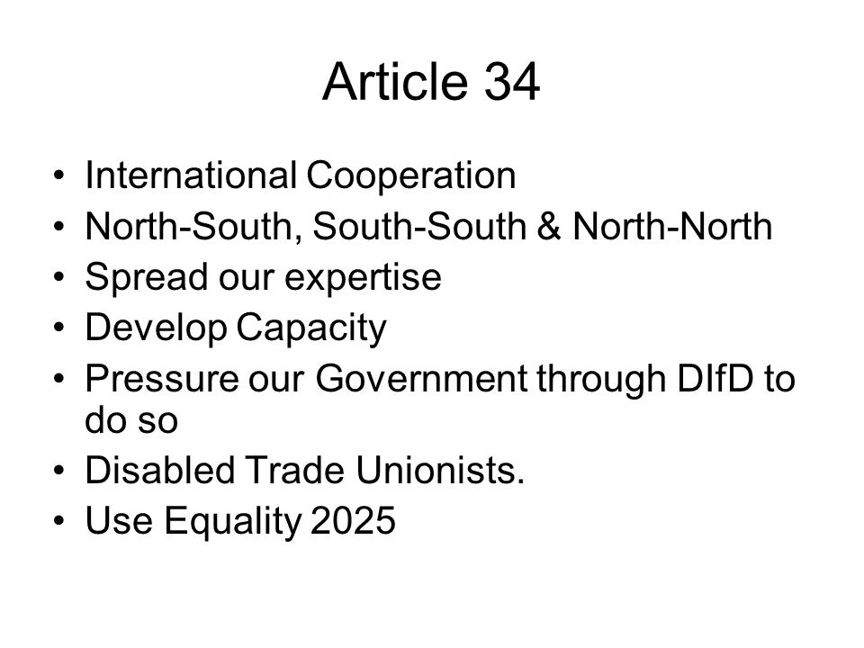 Article 34 International Cooperation