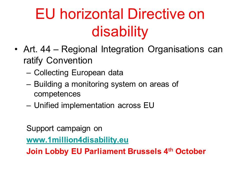 EU horizontal Directive on disability