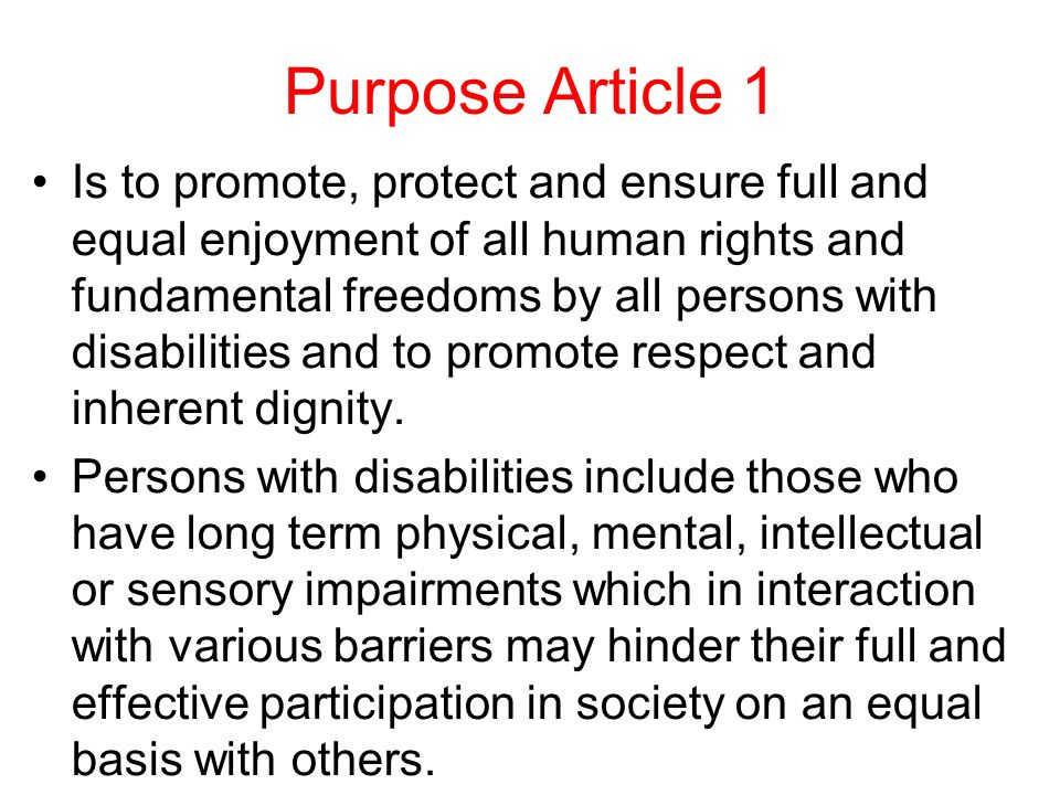 Purpose Article 1