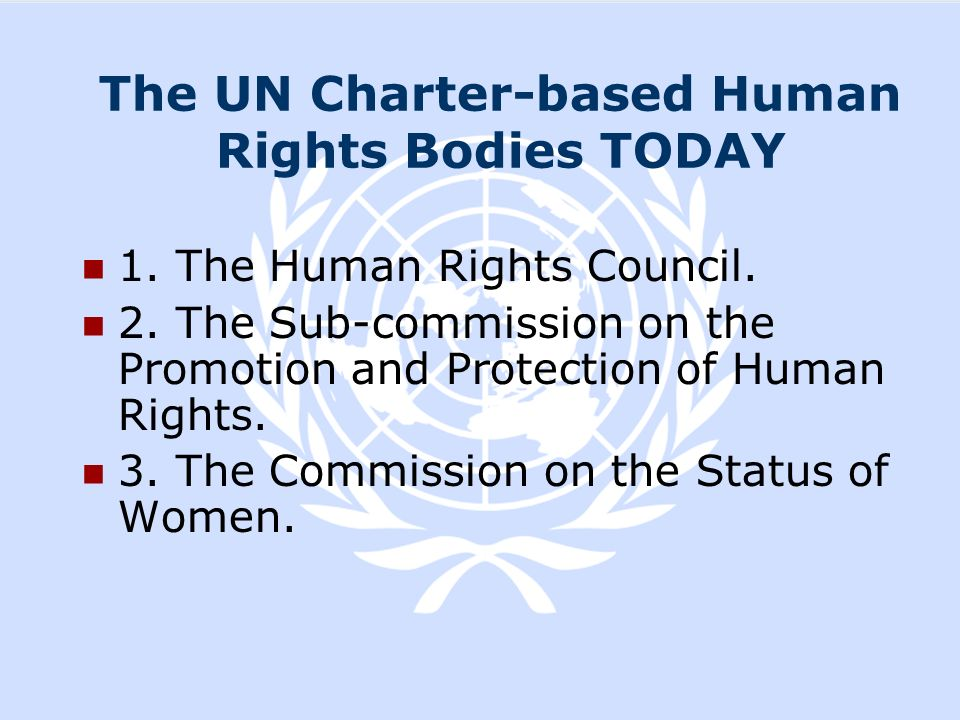 The UN Charter-based Human Rights Bodies TODAY