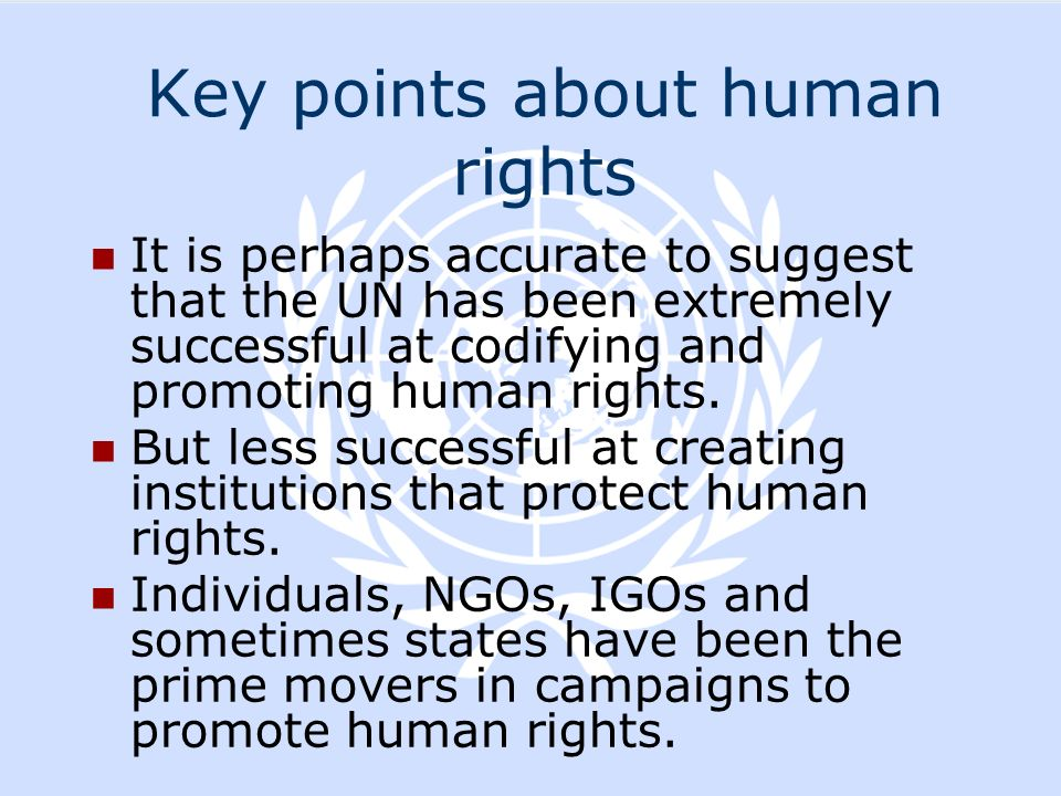 Key points about human rights