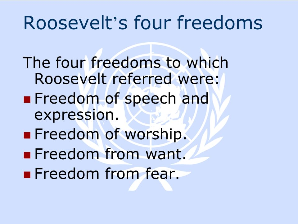 Roosevelt's four freedoms