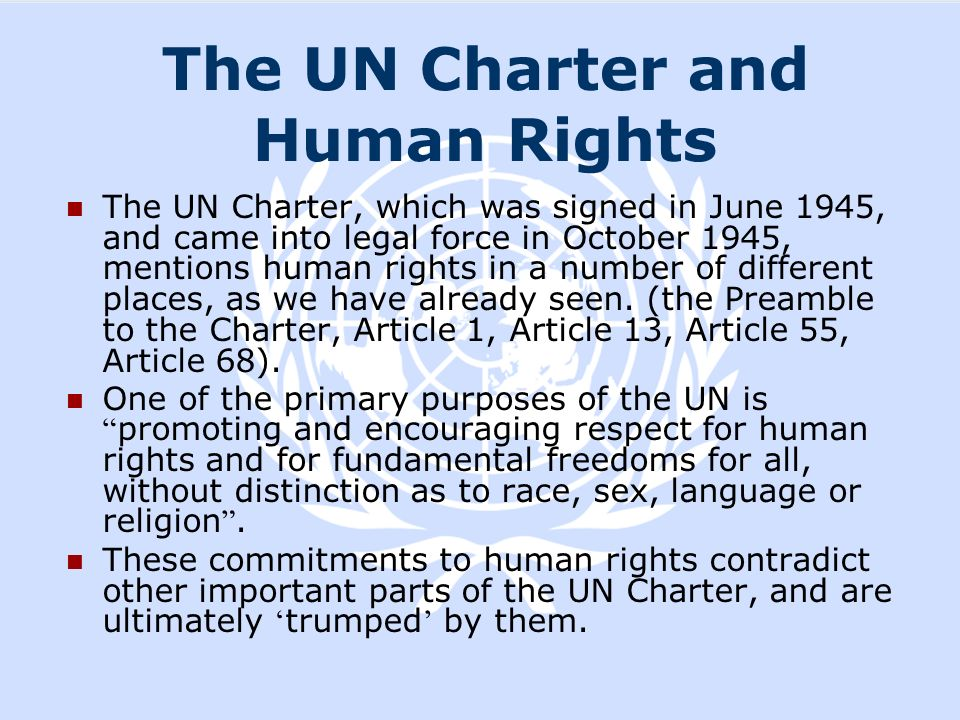 The UN Charter and Human Rights