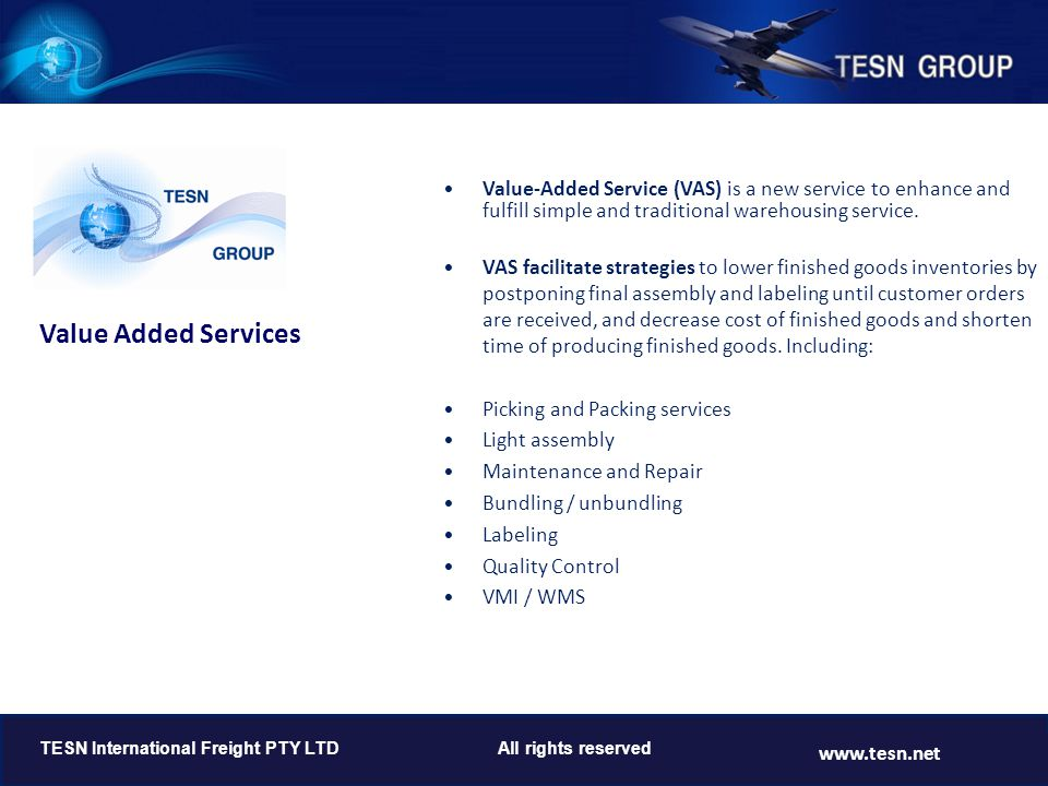 Value Added Services www.tesn.net