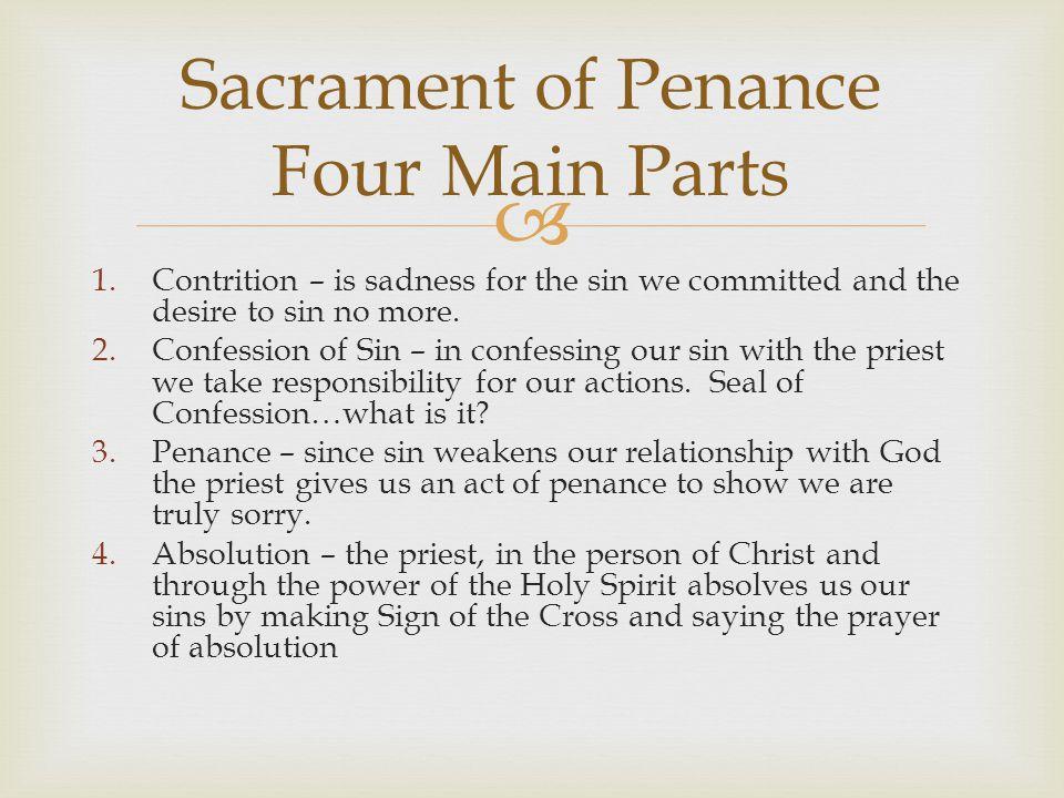 Sacrament of Penance Four Main Parts