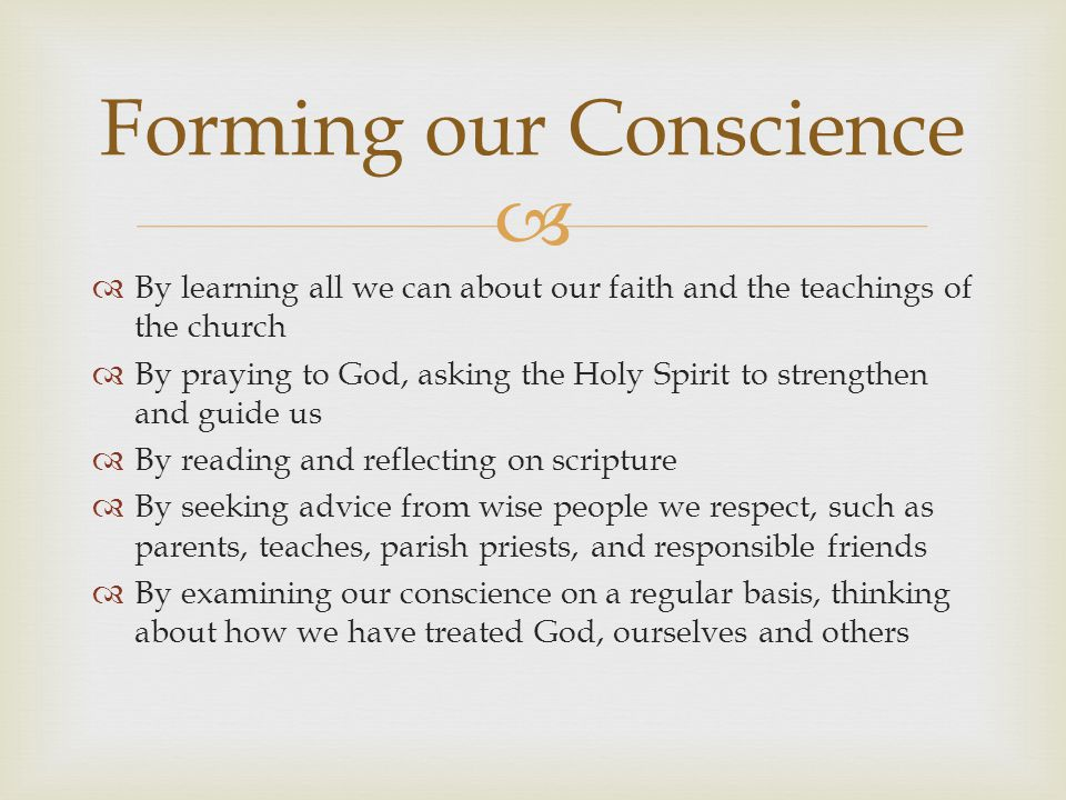 Forming our Conscience