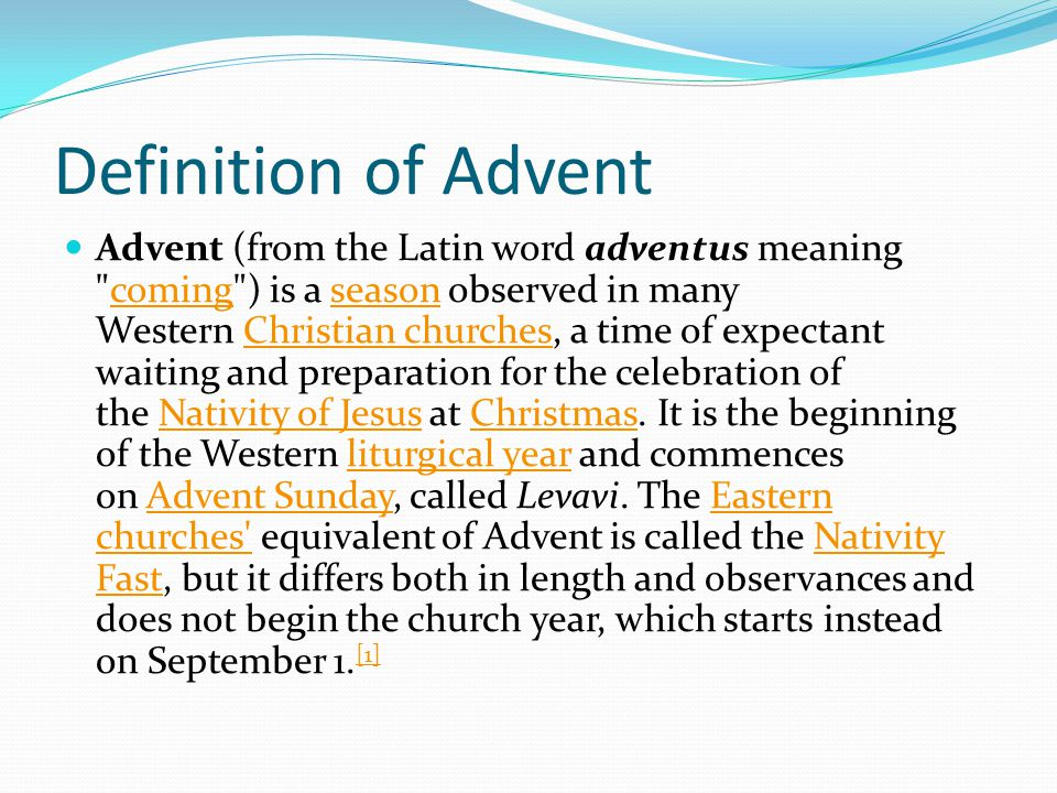 Definition of Advent