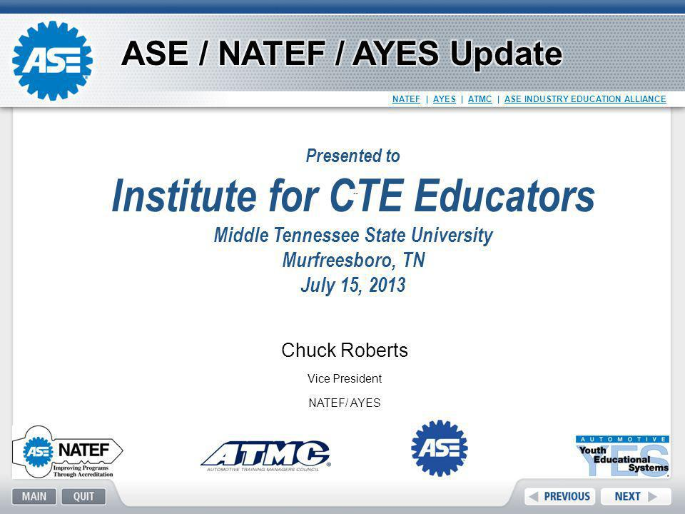 Institute for CTE Educators Middle Tennessee State University