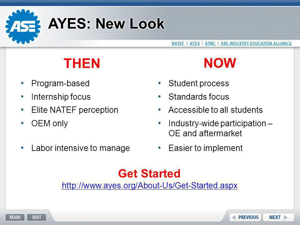 AYES: New Look THEN NOW Get Started Program-based Internship focus