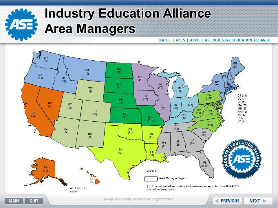 Industry Education Alliance Area Managers