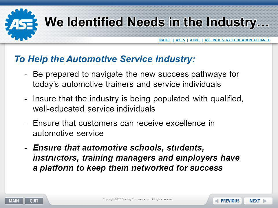 We Identified Needs in the Industry…