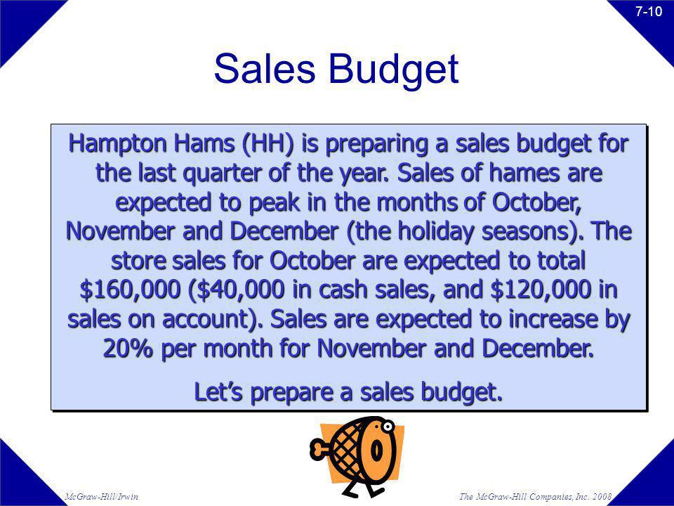Let's prepare a sales budget.