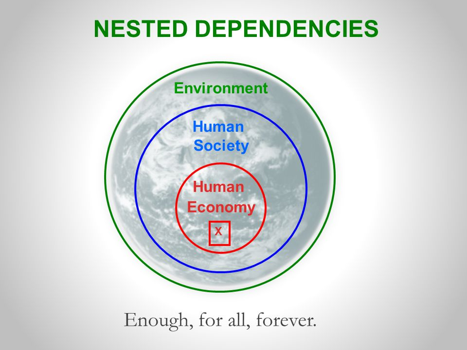 NESTED DEPENDENCIES Enough, for all, forever. Environment